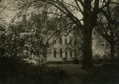 Achterzijde van het Kasteel van Wippelgem, omstreeks 1950