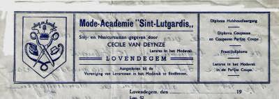 Briefhoofd Mode-Academie Sint-Lutgardis