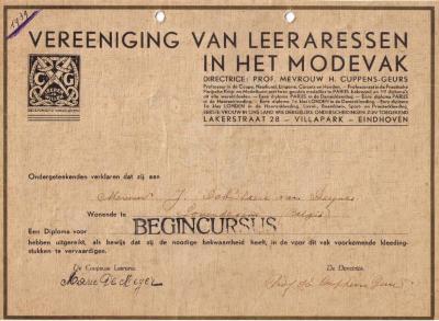 Diploma Cecile Van Deynze