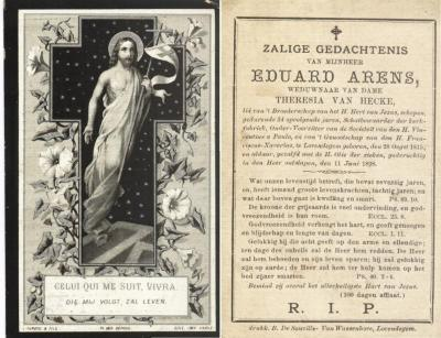 Bidprentje Eduard Arens