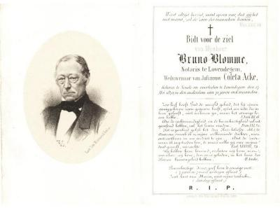 Bidprentje Bruno Blomme