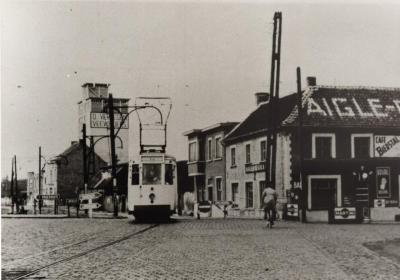 Café Bierstal, met tram