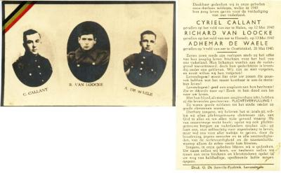Oorlogsslachtoffers Cyriel Callant, Richard Van Lo
