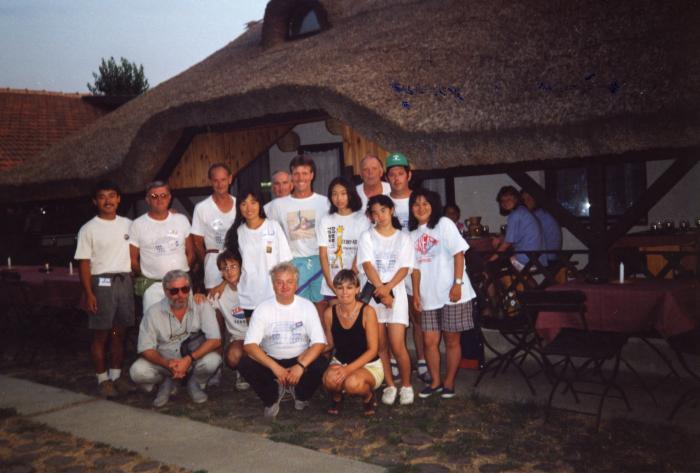 Demonstratie van de Vlaamse krulbolders in Hongarije