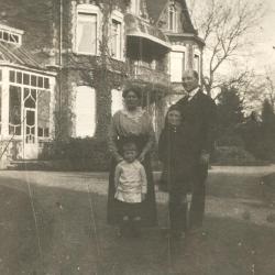 Max Enke en zijn gezin in Eeklo, 1920