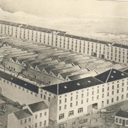 Pentekening van de haarsnijderijfabriek Enke in Eeklo, ca. 1900