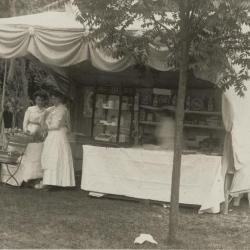 Vlaamse foor in de tuinen van Villa Oaklands in Eeklo, 1907