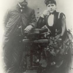 Portret van Hermann Enke en Carolina Pöting, ca. 1875