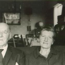 Max en dochter Ruth Enke, eind jaren 1960