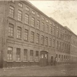 Haarsnijderij Enke in Eeklo, omstreeks 1897