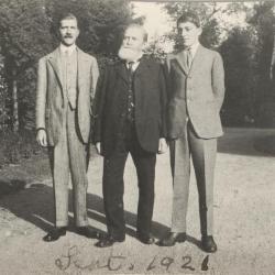 Drie generaties Enke: Peter, Hermann en Godfrey in 1921
