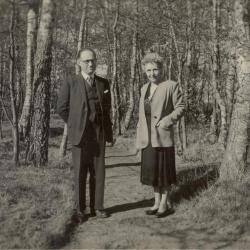 Sadi Stradiot en Rachelle Duvieusart, april 1947