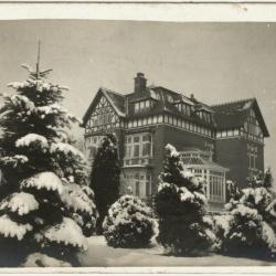 Wintertafereel met Villa Pinehurst, Eeklo, omstreeks 1910