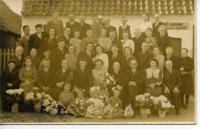 Huwelijksfoto van Marcel Van De Veire en Clara Bral