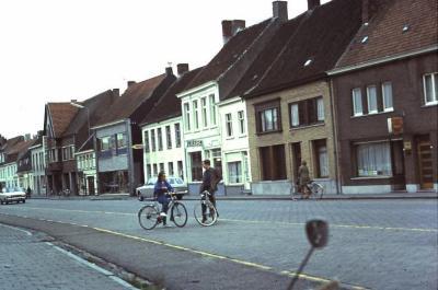 Dorpszicht Stationsstraat, Waarschoot, jaren 1960