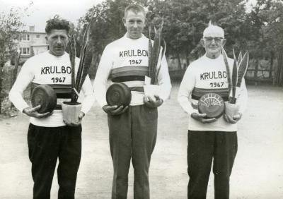 Kampioenen krulbol, Van Deynse Thelas, Neyt Laurent, De Backer Leon, 1967