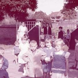 Schoolfoto Jongens 6e leerjaar, Waarschoot, 1962-1963