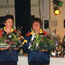 Kampioenen krulbol van Belgie, Gelaude Christiane en Van De Berghe Christine, Doornzele, 1998