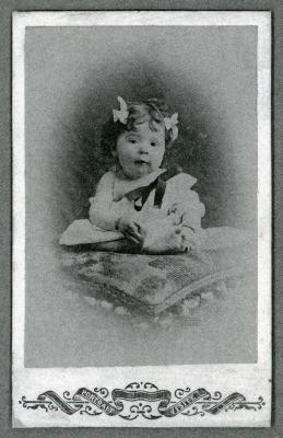 Babyfoto Mathilde-Marie Hooft, Knesselare, 1905