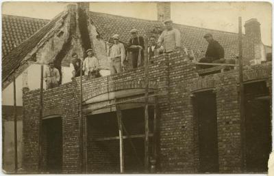 Huis in opbouw, Knesselare, ca. 1932