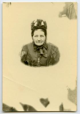 Portretfoto Lucie Bultinck, Knesselare, ca. 1900