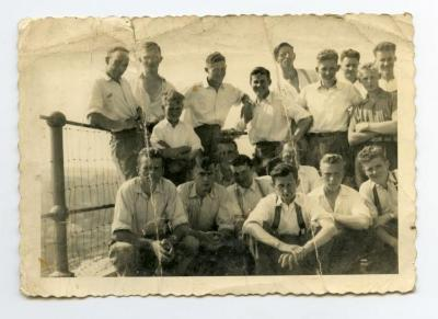 Boeren Jeugdbond op het proefveld,1950
