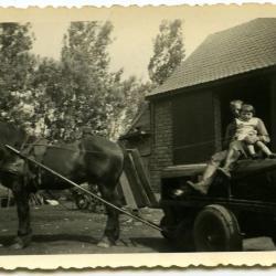 Zusjes Neerinck in de boomgaard, Eeklo