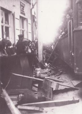 Ongeval met tram rond het jaar 1925, Assenede