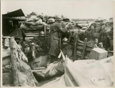 Loopgraaf, 1918