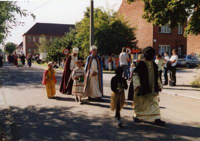 Drie koningen in de processie van Rieme, 2003(I)