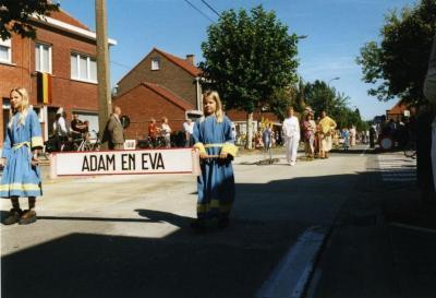 Adam en Eva in de processie van Rieme, 2003