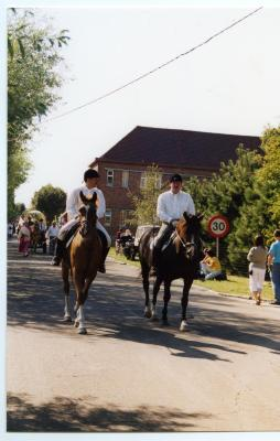 Ruiters in de processie van Rieme, 2003 (I)