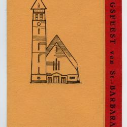 Programmaboekje wijdingsfeest Sint-Barbarakerk Rieme, 1963