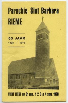 Programmaboekje 50jarig bestaan parochie van Rieme(II), 1978