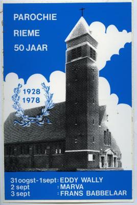 Programmaboekje 50jarig bestaan parochie van Rieme (I), 1978