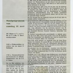 Programmaboekje klokkenwijding Sint-Barbarakerk Rieme, 1964