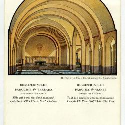Ontwerp voor interieur van de tweede parochiekerk van Rieme