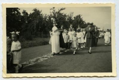 Inhuldigingsstoet voor pastoor Bouuaert, 1928 (I)