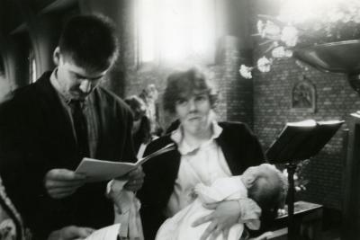 Doopsel in parochiekerk van Rieme, 1991