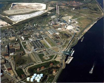Luchtfoto Kuhlmannsite, eind jaren 1980