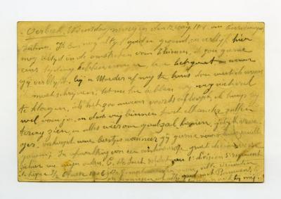 Postkaart Kamiel De Smet (Tienen), Sleidinge, 1914