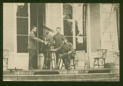 Ingekwartierde officieren, Lembeke, 1914-1918