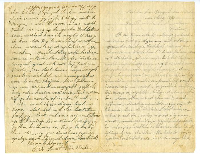 Brief Kamiel De Smet (Mechelen), Sleidinge, 1914