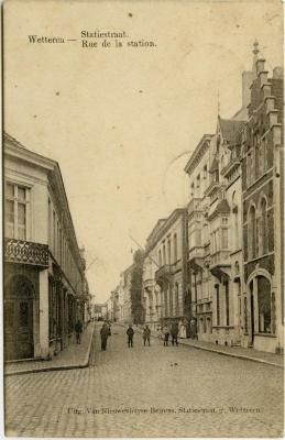Postkaart Kamiel De Smet (Wetteren), Sleidinge, 1914