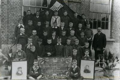 Schooljongens, Kaprijke, 1914-1919