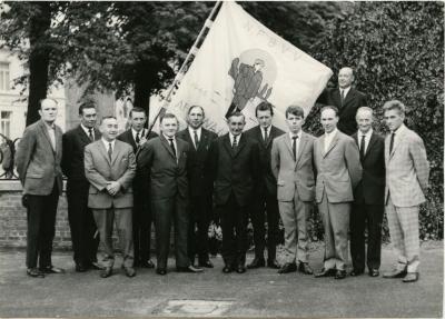Vaandelwijding Vogelbond, Waarschoot, 1966