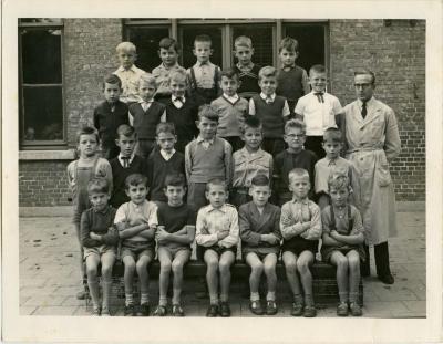 Schoolfoto Jongens 3e leerjaar, Waarschoot, 1959-1960