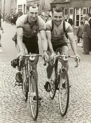 Roger De Corte (1923-2010) en Firmin Bral (1929-2009) in Eeklo in 1953