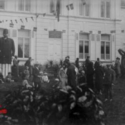 Reuzen tijdens bevrijdingsstoet op 21/07/1945 in Eeklo
