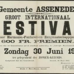 Groot internationaal festival voor harmonie- fanfaren en zangmaatschappijen Assenede
